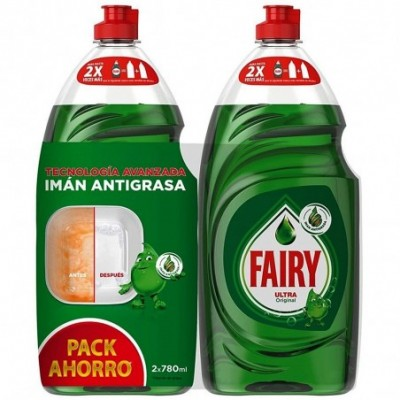 Pack 2 uds. Fairy Lavavajillas Mano Concentrado Ultra - 780 ml.