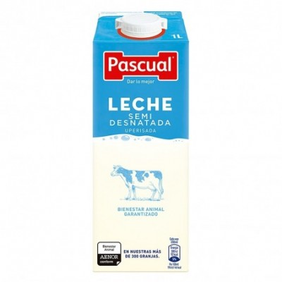 Pack 6 uds. Pascual Leche Semidesntada - 1 L.
