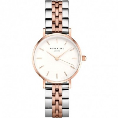 Reloj Rosefield mujer 26SRGD-271 The Small Edit White Steel Silver Rosegold