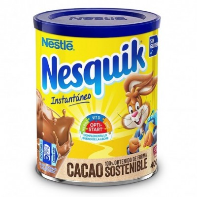 Pack 12 uds. Nesquik Cacao Soluble Instantáneo Sin Gluten - 390 gr.