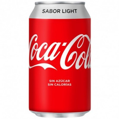 Pack 24 uds. Coca-Cola Refresco De Cola Light Lata - 330 ml.