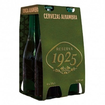 Pack 6 uds. Alhambra Reserva 1925 Cerveza Rubia Extra - 4 botellas X 33 cl.