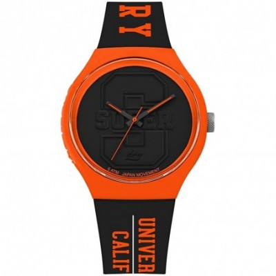 Reloj Superdry SYG240BO Urban XL Varsity negro silicona University of California