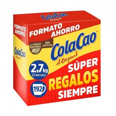 Pack 4 uds. ColaCao Original Cacao Natural Soluble Formato Ahorro - 2.7 kg.