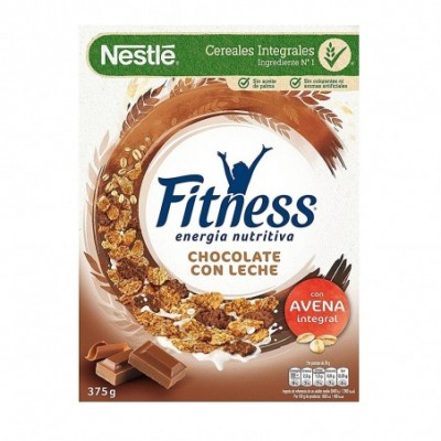 Pack 16 uds. Nestlé Fitness Cereales Integrales Con Chocolate Con Leche - 375 gr.