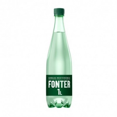Pack. 6 uds. Fonter Agua Con Gas Mineral Natural - 1 L.