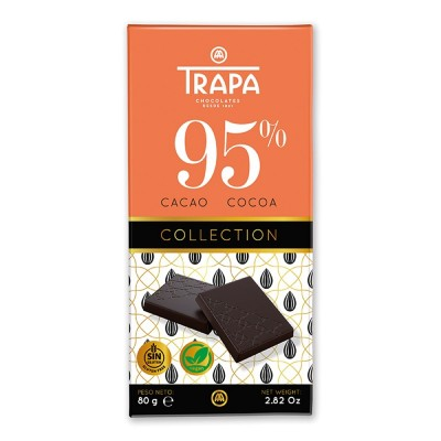 Pack. 15 uds. Trapa Tableta Chocolate Negro 95% - 80 gr.