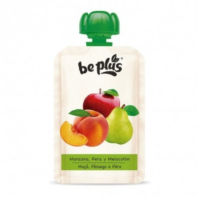 Pack. 7 uds. Be Plus Pouch Potito Manzana Pera Melocotón - 100 gr.