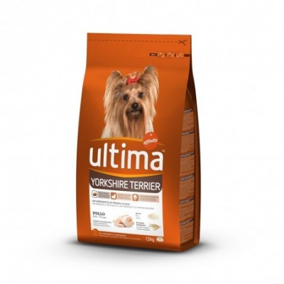 Pack. 8 uds. Affinity Ultima Alimento Pienso Perros Yorkshire Terrier Con Pollo - 1.5 kg.